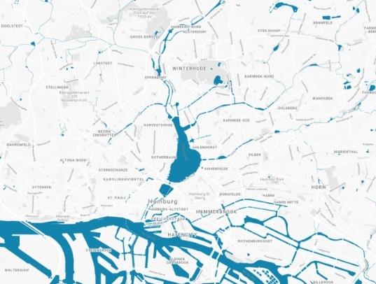 map Alster op Platt